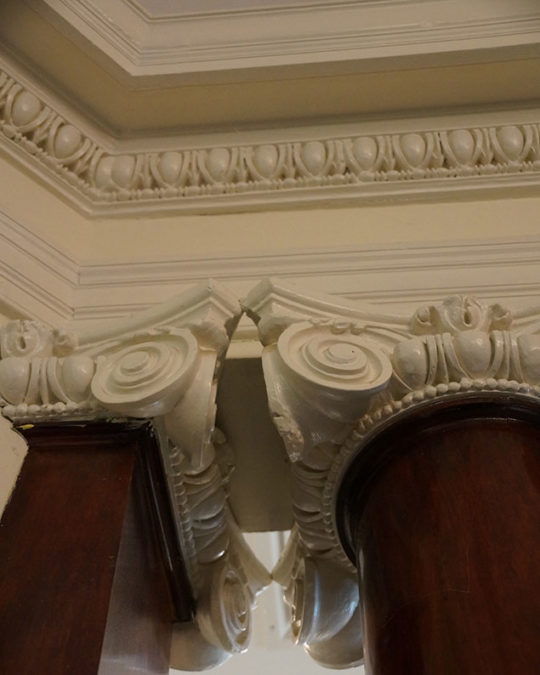 Cornice at the Witherle Memorial Library