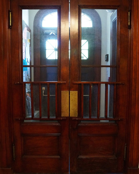Entry doors at the Witherle Memorial Library