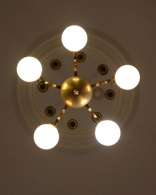Ceiling lights at Witherle Memorial Library