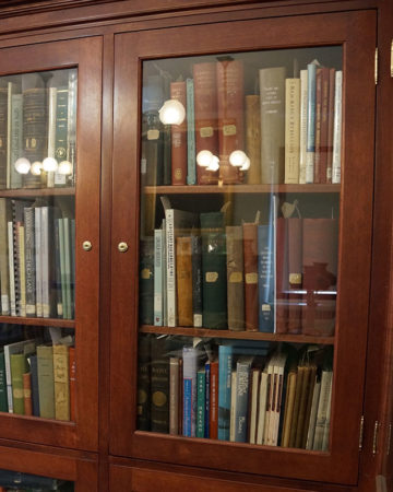Bookcase at the Witherle Memorial Library